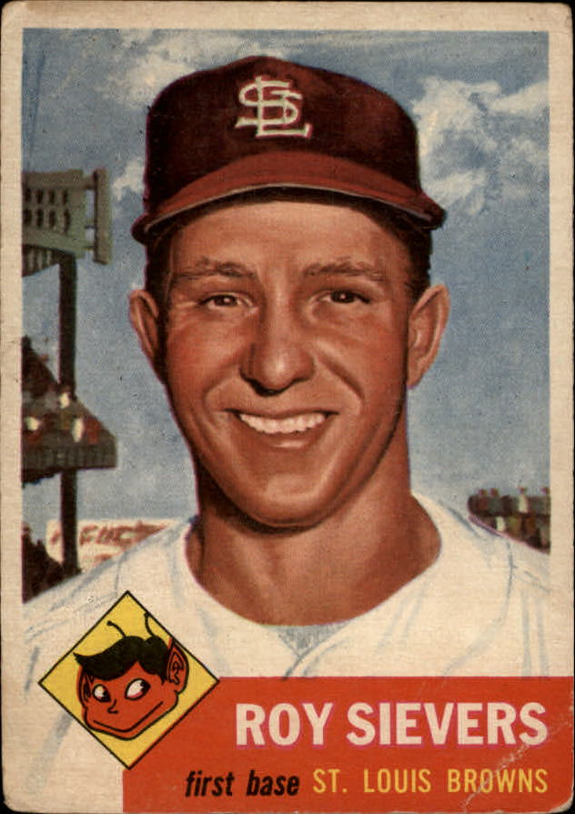 1953 Topps #67 Roy Sievers DP