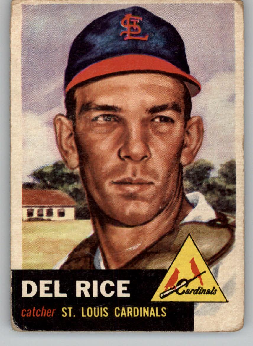 1953 Topps #68 Del Rice