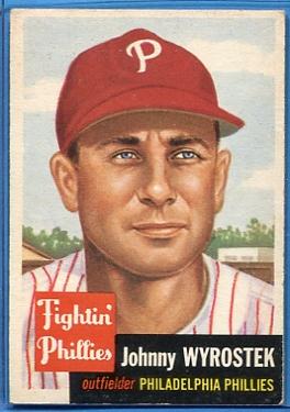 1953 Topps #79 Johnny Wyrostek
