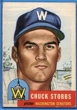 1953 Topps #89 Chuck Stobbs DP