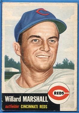 1953 Topps #95 Willard Marshall DP