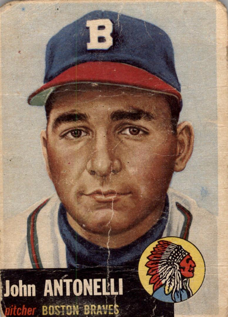 1953 Topps #106 Johnny Antonelli