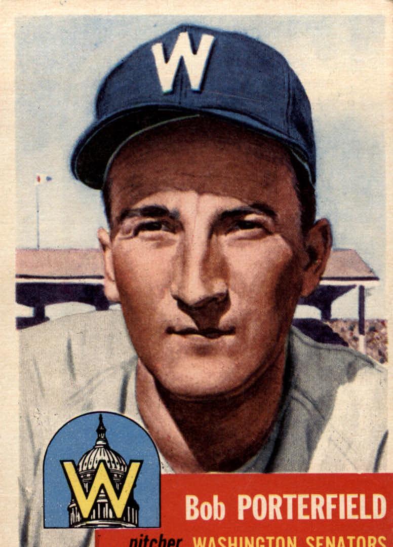 1953 Topps #108 Bob Porterfield DP