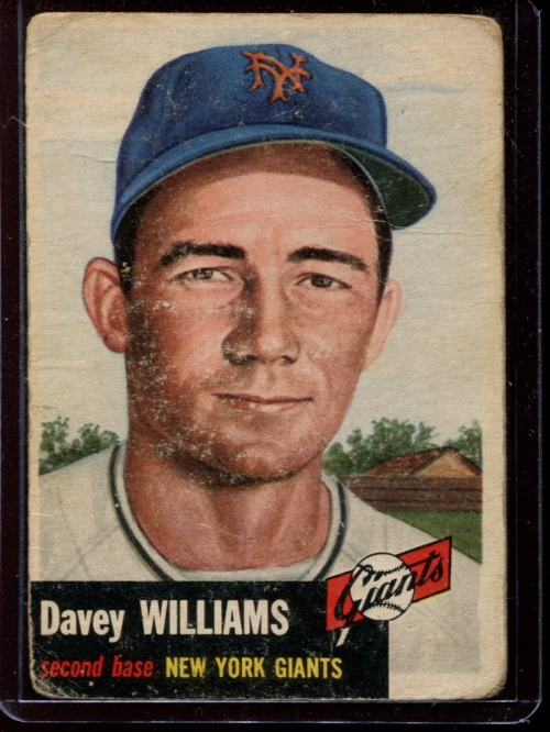 1953 Topps #120 Davey Williams