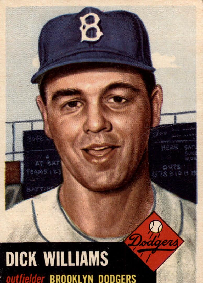 1953 Topps #125 Dick Williams DP