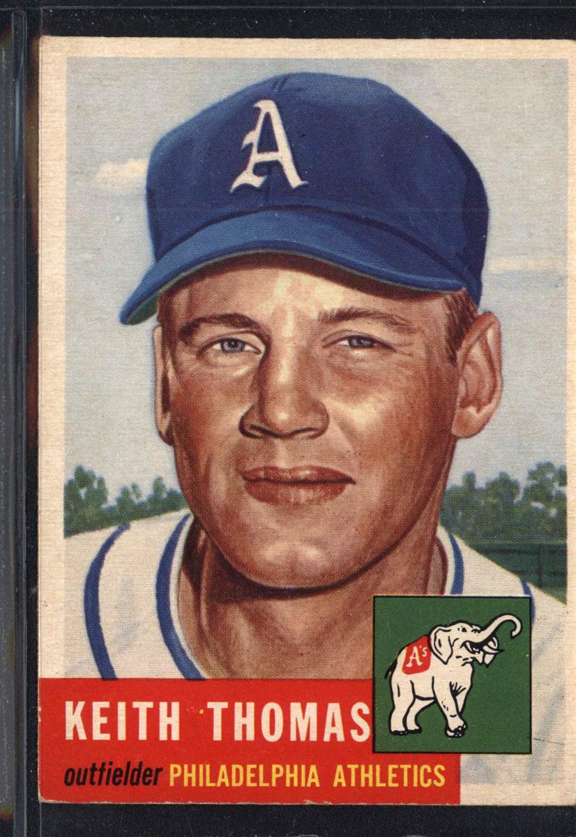 1953 Topps #129 Keith Thomas RC