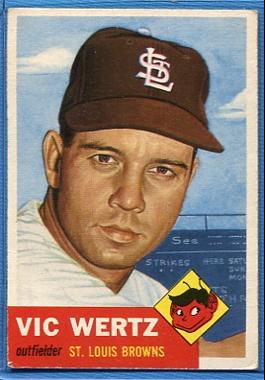 1953 Topps #142 Vic Wertz