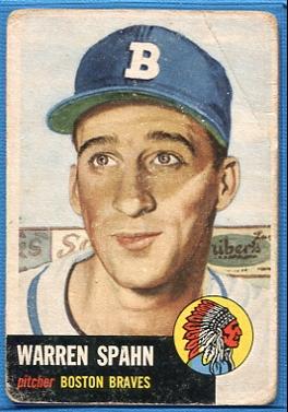 1953 Topps #147 Warren Spahn