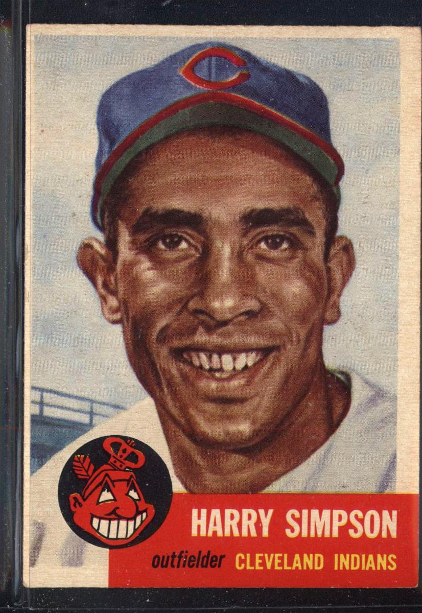 1953 Topps #150 Harry Simpson DP