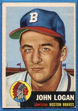 1953 Topps #158 Johnny Logan RC