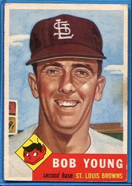 1953 Topps #160 Bob Young