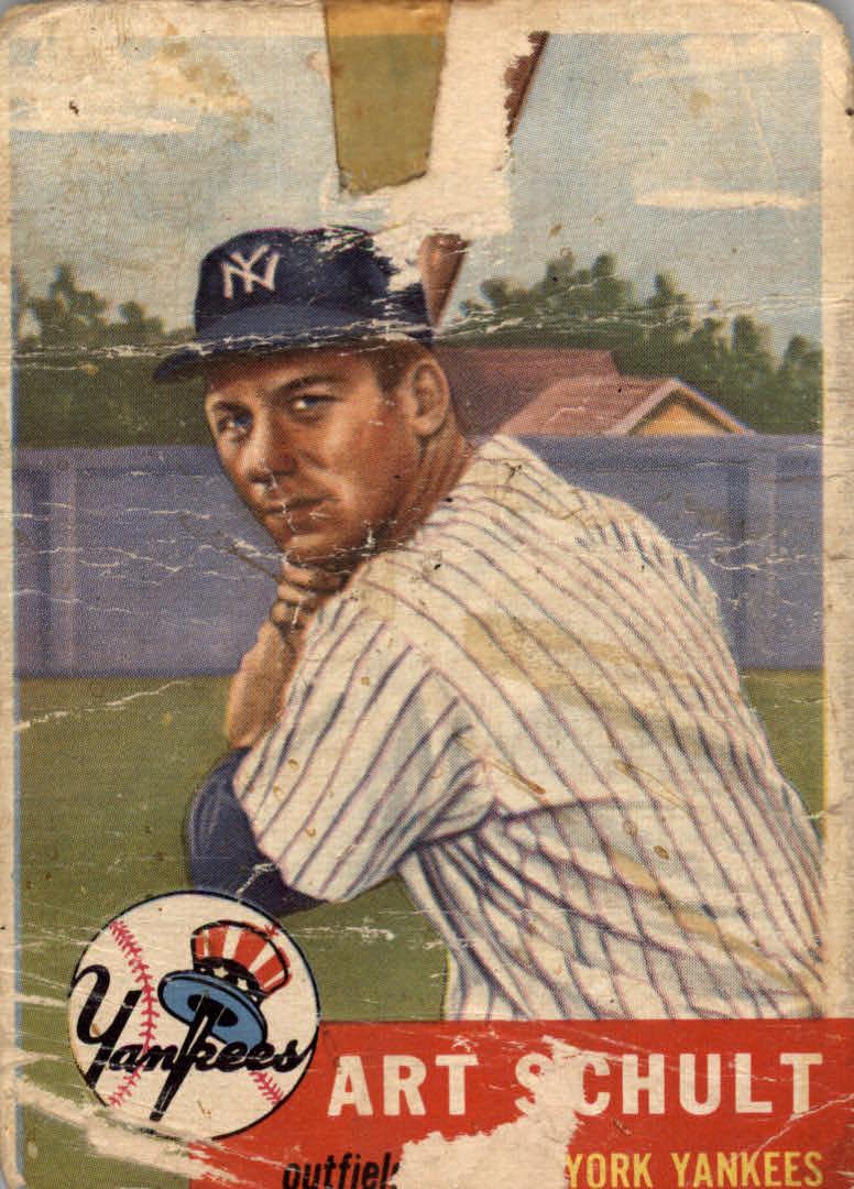 1953 Topps #167 Art Schult RC