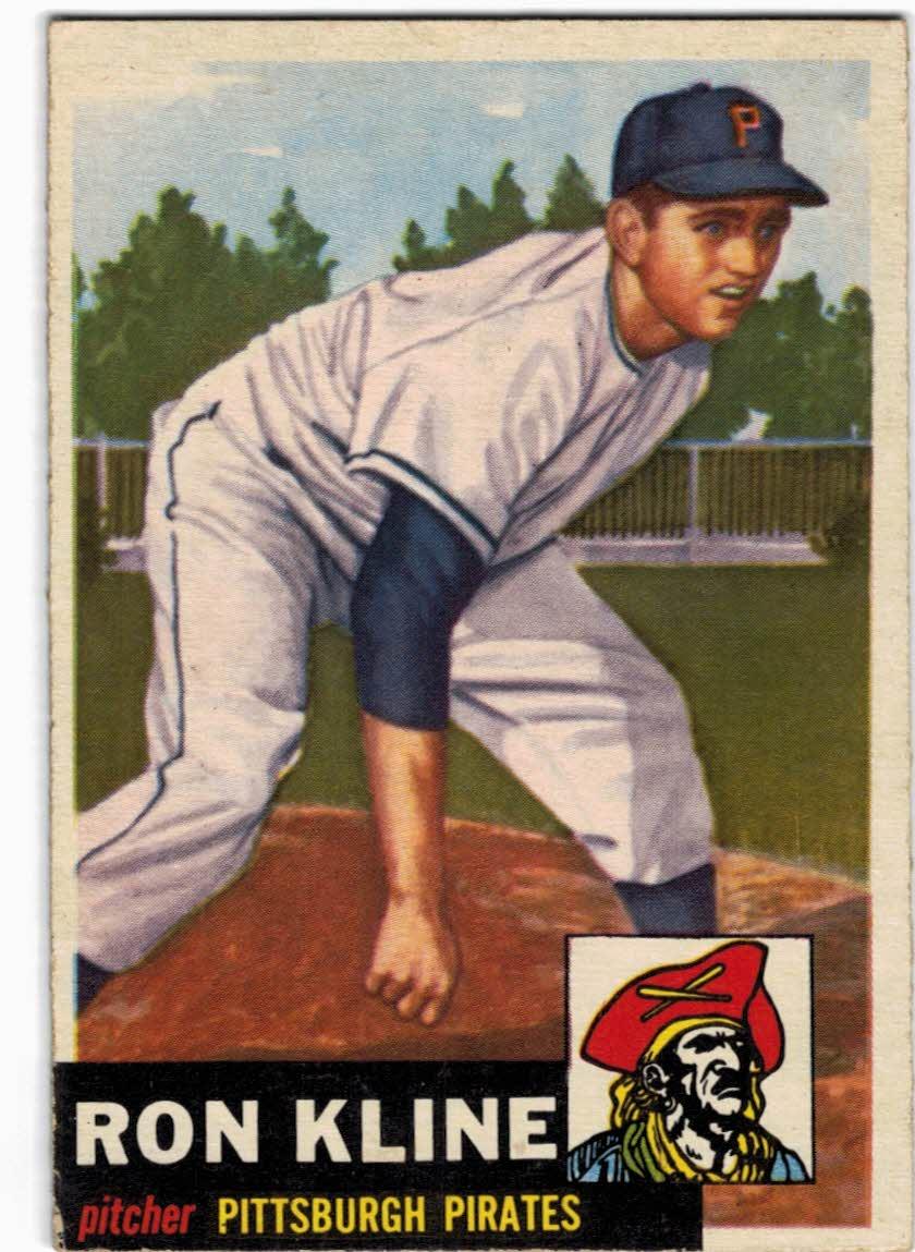 1953 Topps #175 Ron Kline RC