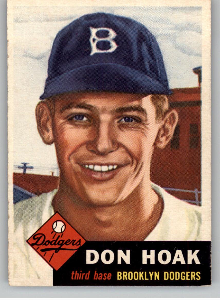 1953 Topps #176 Don Hoak RC
