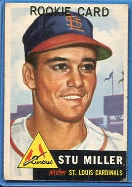 1953 Topps #183 Stu Miller RC