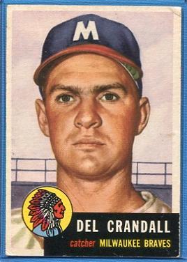 1953 Topps #197 Del Crandall