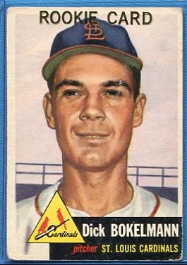 1953 Topps #204 Dick Bokelman RC