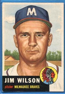 1953 Topps #208 Jim Wilson