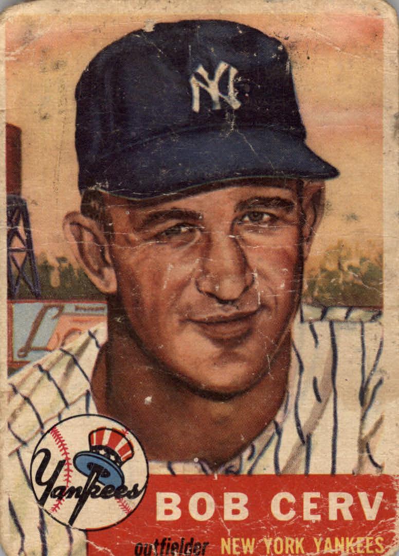 1953 Topps #210 Bob Cerv RC
