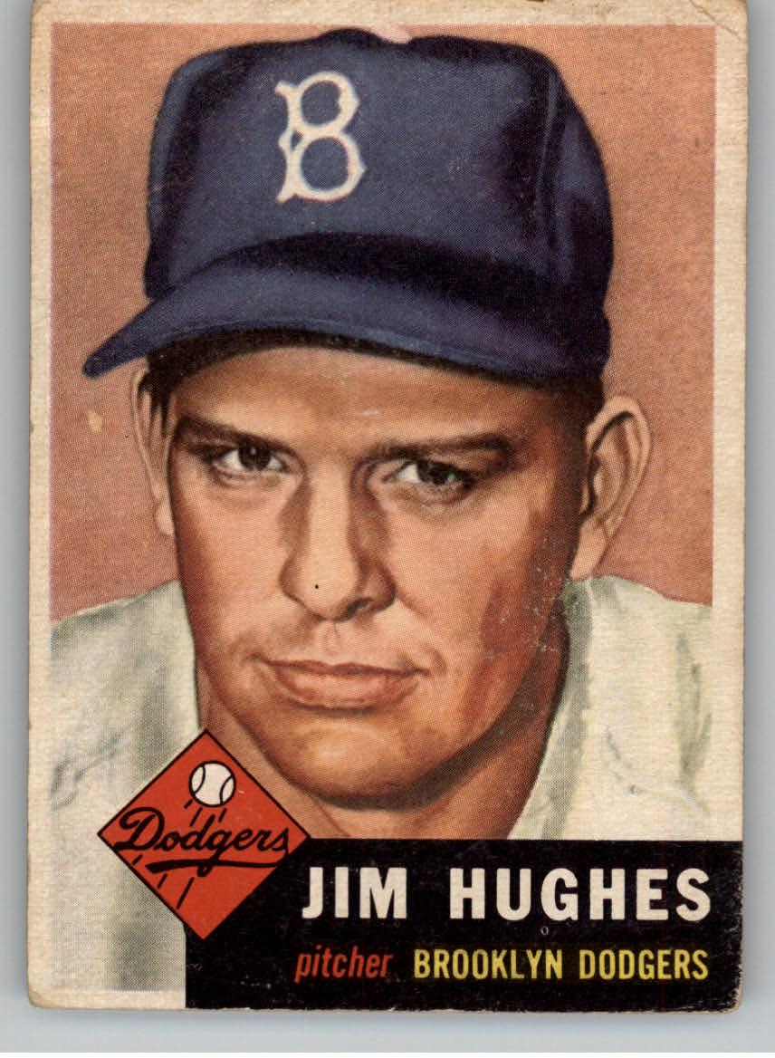 1953 Topps #216 Jim Hughes RC