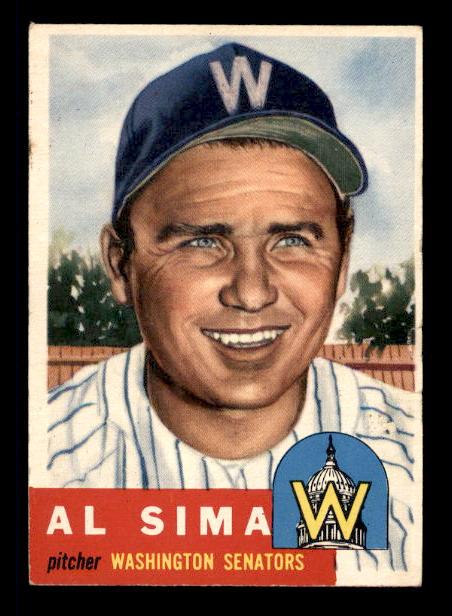 1953 Topps #241 Al Sima DP