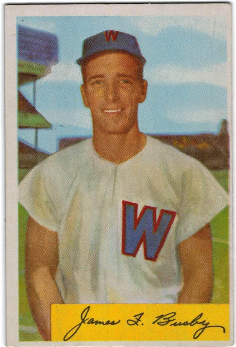 1954 Bowman #8 Jim Busby