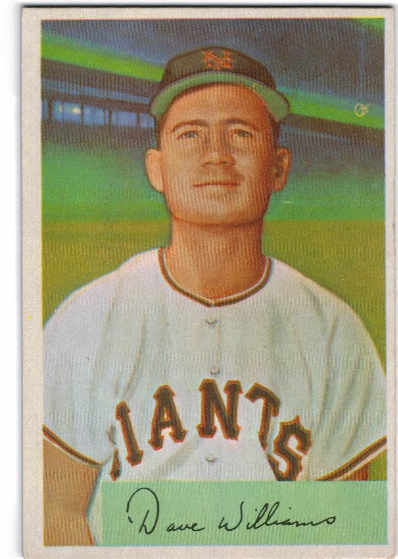 1954 Bowman #9 Dave Williams