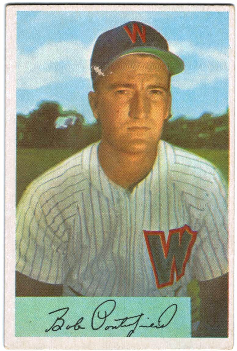 1954 Bowman #24 Bob Porterfield