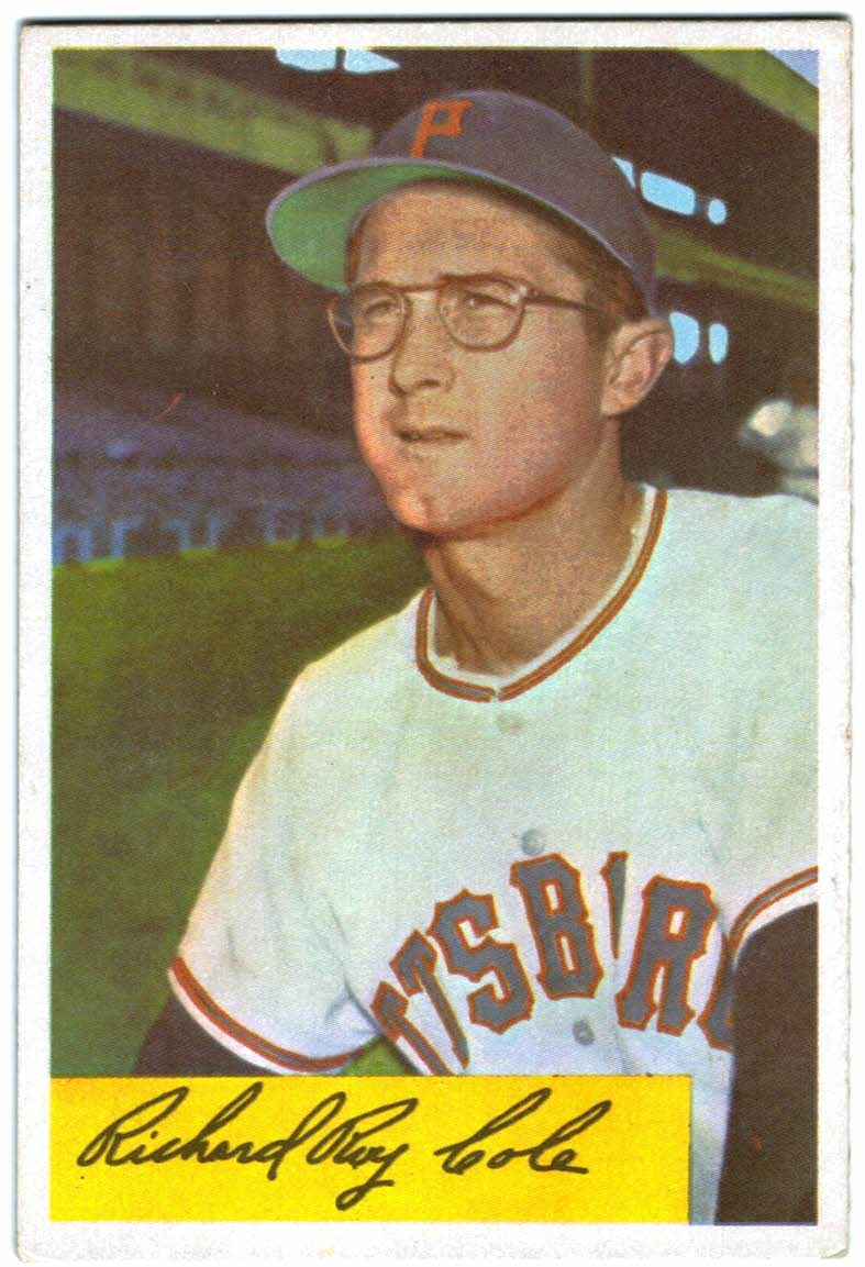 1954 Bowman #27 Dick Cole RC