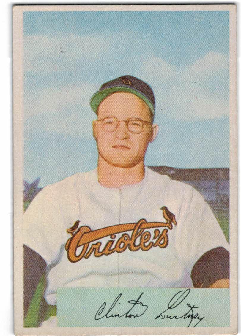 1954 Bowman #69 Clint Courtney