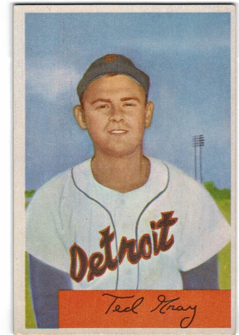 1954 Bowman #71 Ted Gray
