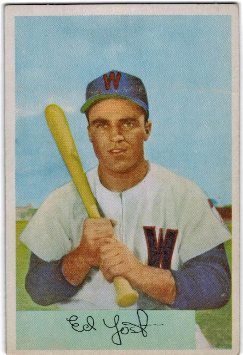1954 Bowman #72 Eddie Yost