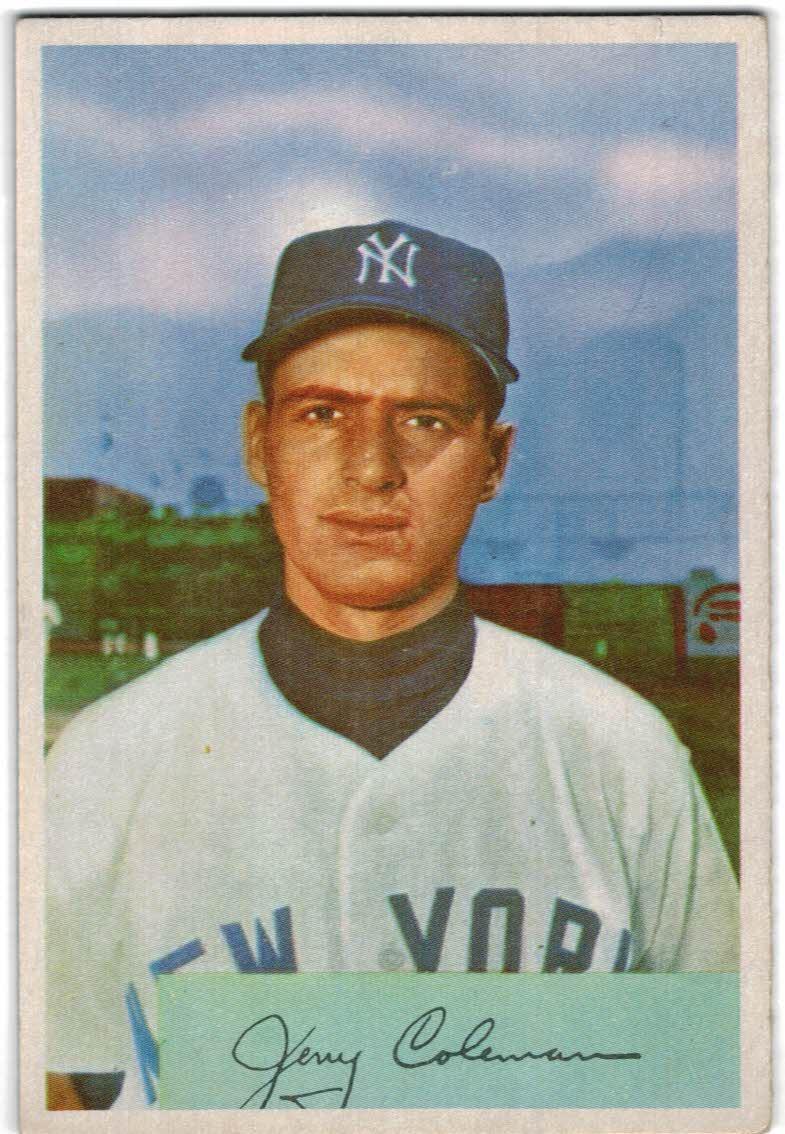 1954 Bowman #81A Jerry Coleman/1.000/.975 Fielding Avg.