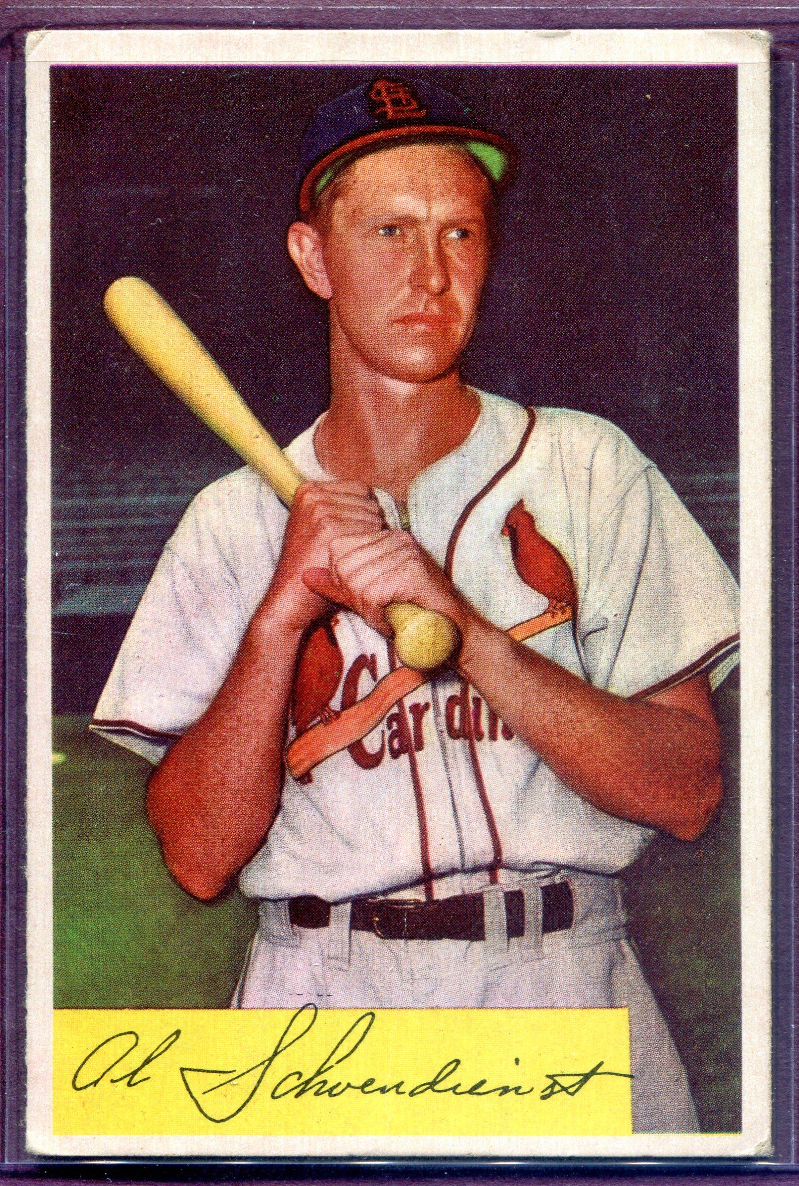 1954 Bowman #110 Red Schoendienst
