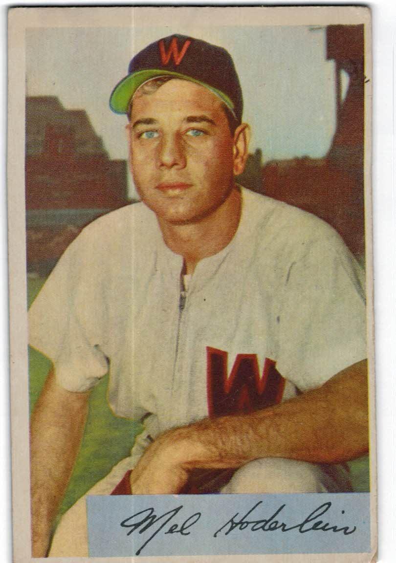1954 Bowman #120 Mel Hoderlein RC
