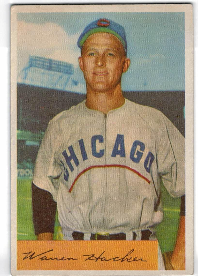 1954 Bowman #125 Warren Hacker