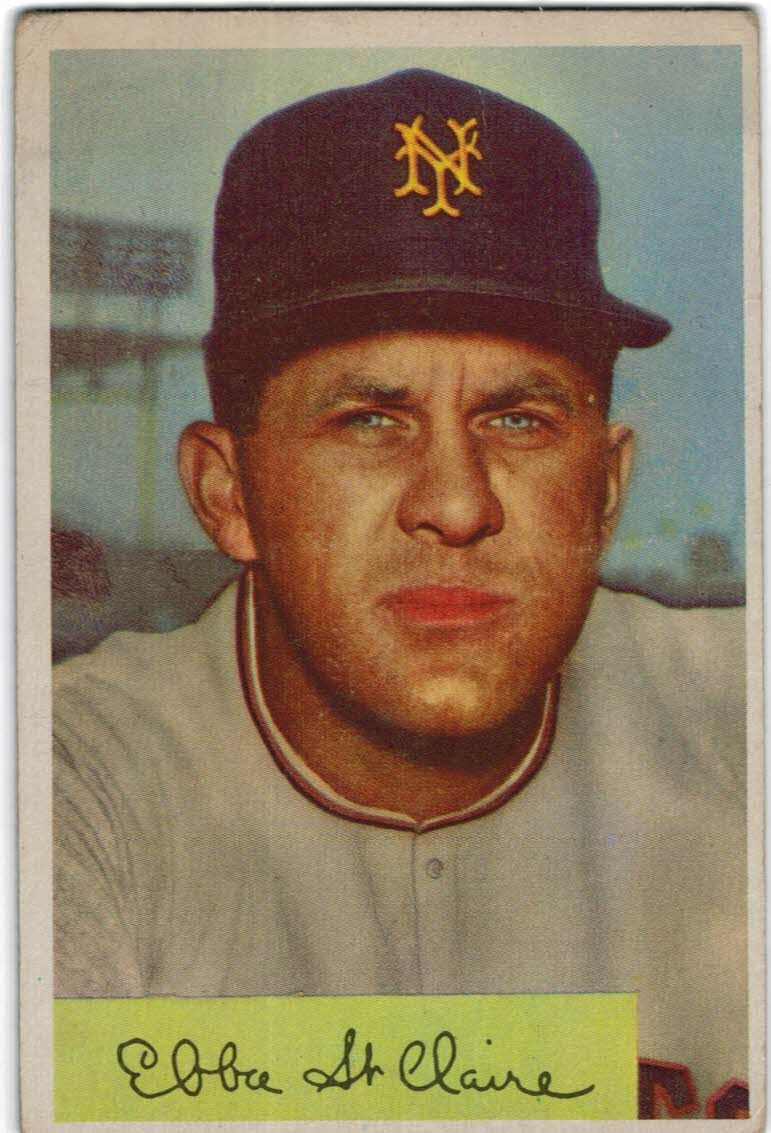 1954 Bowman #128 Ebba St.Claire