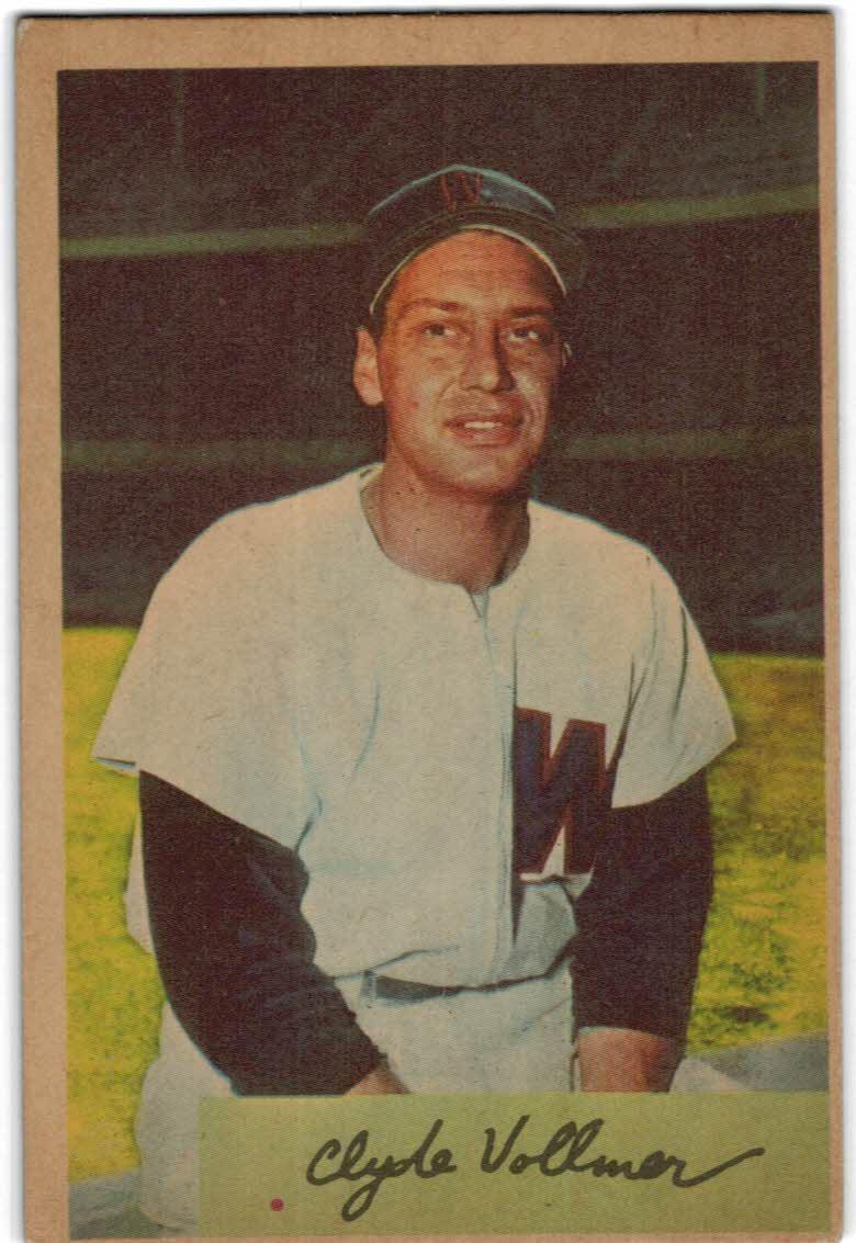 1954 Bowman #136 Clyde Vollmer