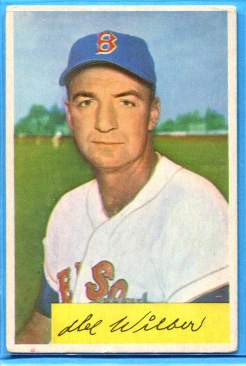 1954 Bowman #178 Del Wilber