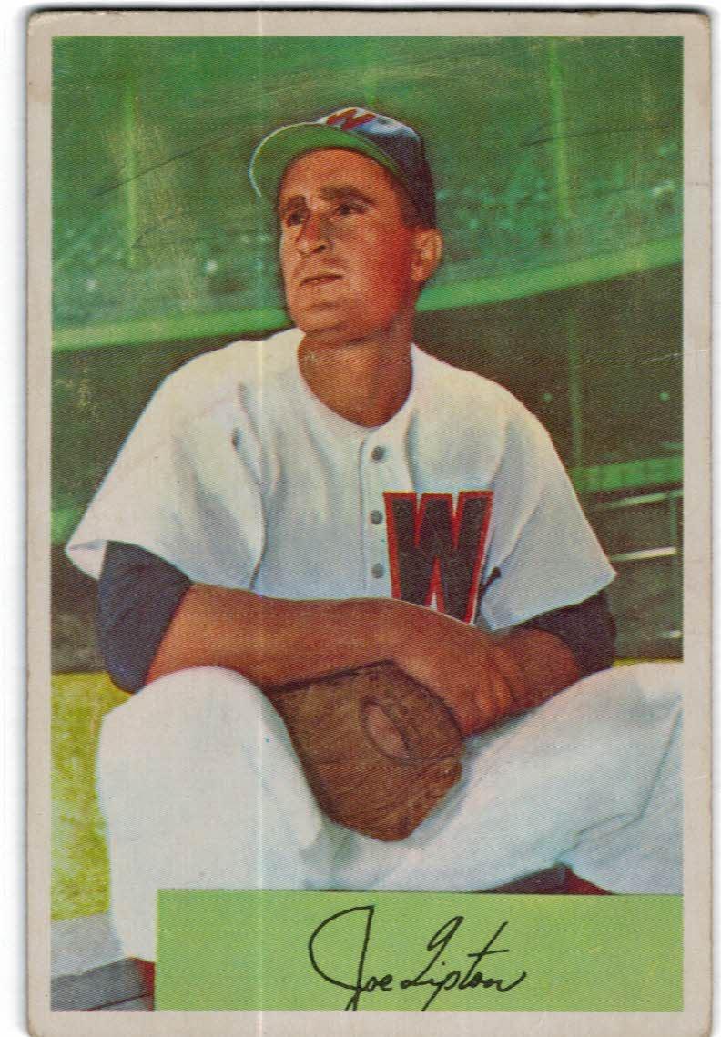 1954 Bowman #180 Joe Tipton