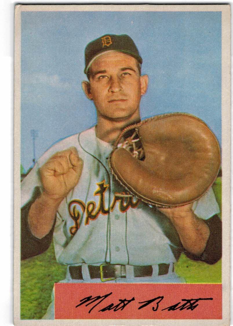1954 Bowman #183 Matt Batts