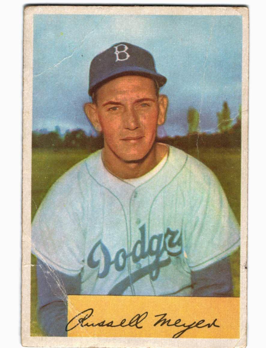 1954 Bowman #186 Russ Meyer