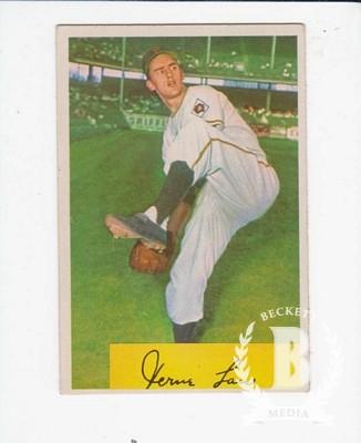 1954 Bowman #187 Vern Law