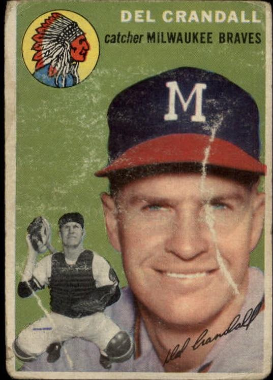 1954 Topps #12 Del Crandall