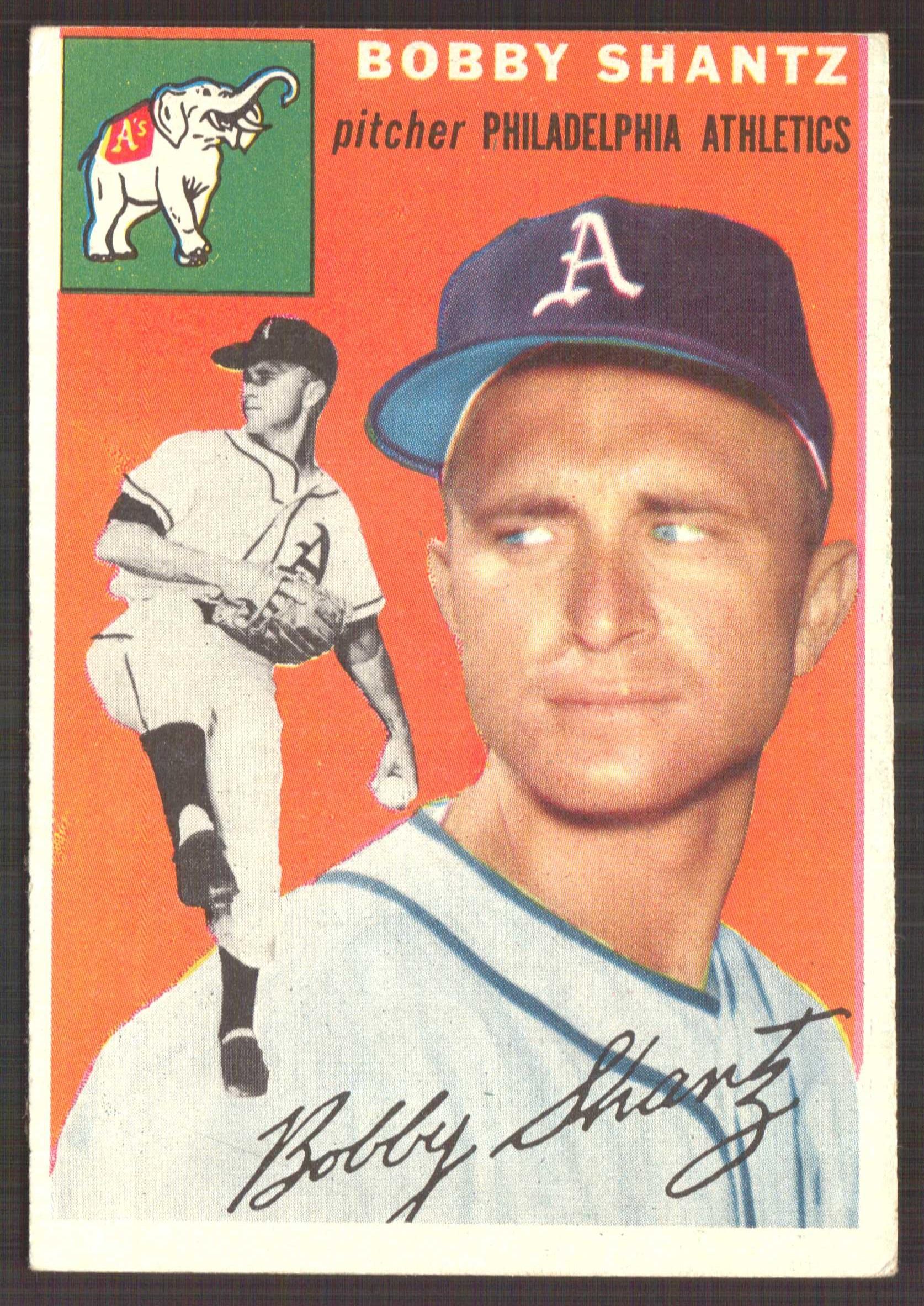 1954 Topps #21 Bobby Shantz
