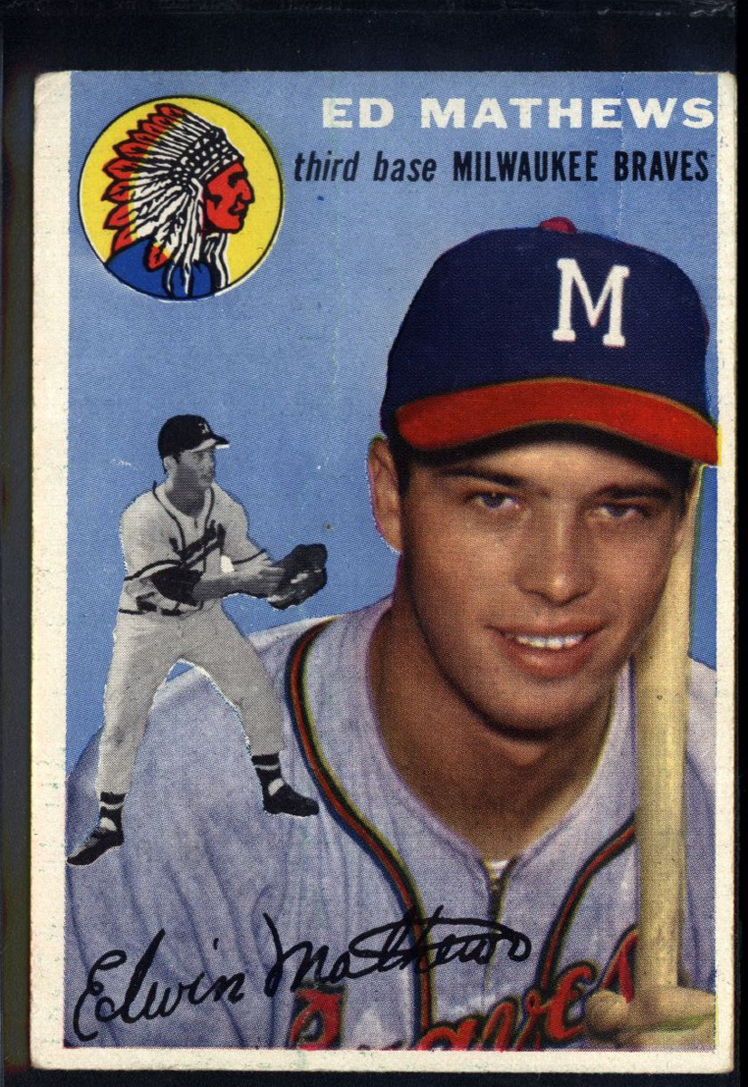 1954 Topps #30 Eddie Mathews