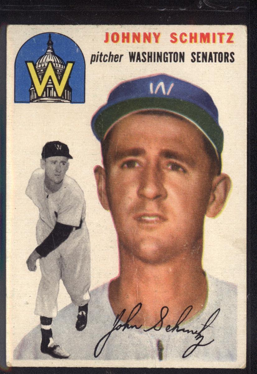 1954 Topps #33 Johnny Schmitz