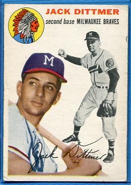 1954 Topps #53 Jack Dittmer