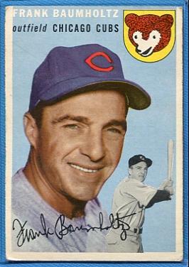 1954 Topps #60 Frank Baumholtz
