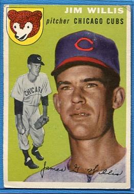 1954 Topps #67 Jim Willis RC